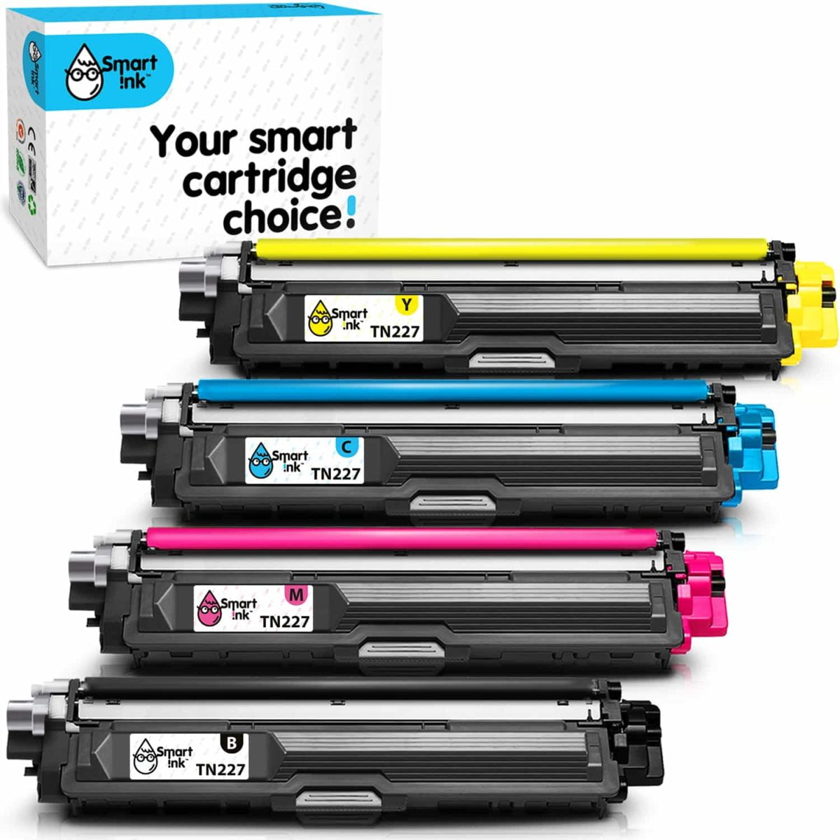 TN223, TN227. Smart Ink Toner Cartridge Replacement for Brother TN 223, TN 227 (4 pack), Compatible