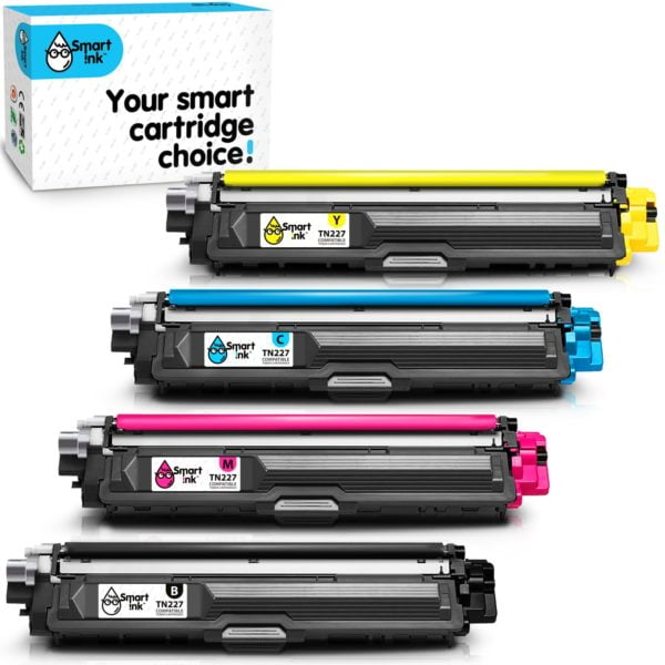Smart Ink Toner Cartridge Replacement for Brother TN 223, TN 227 (4 pack), Compatible