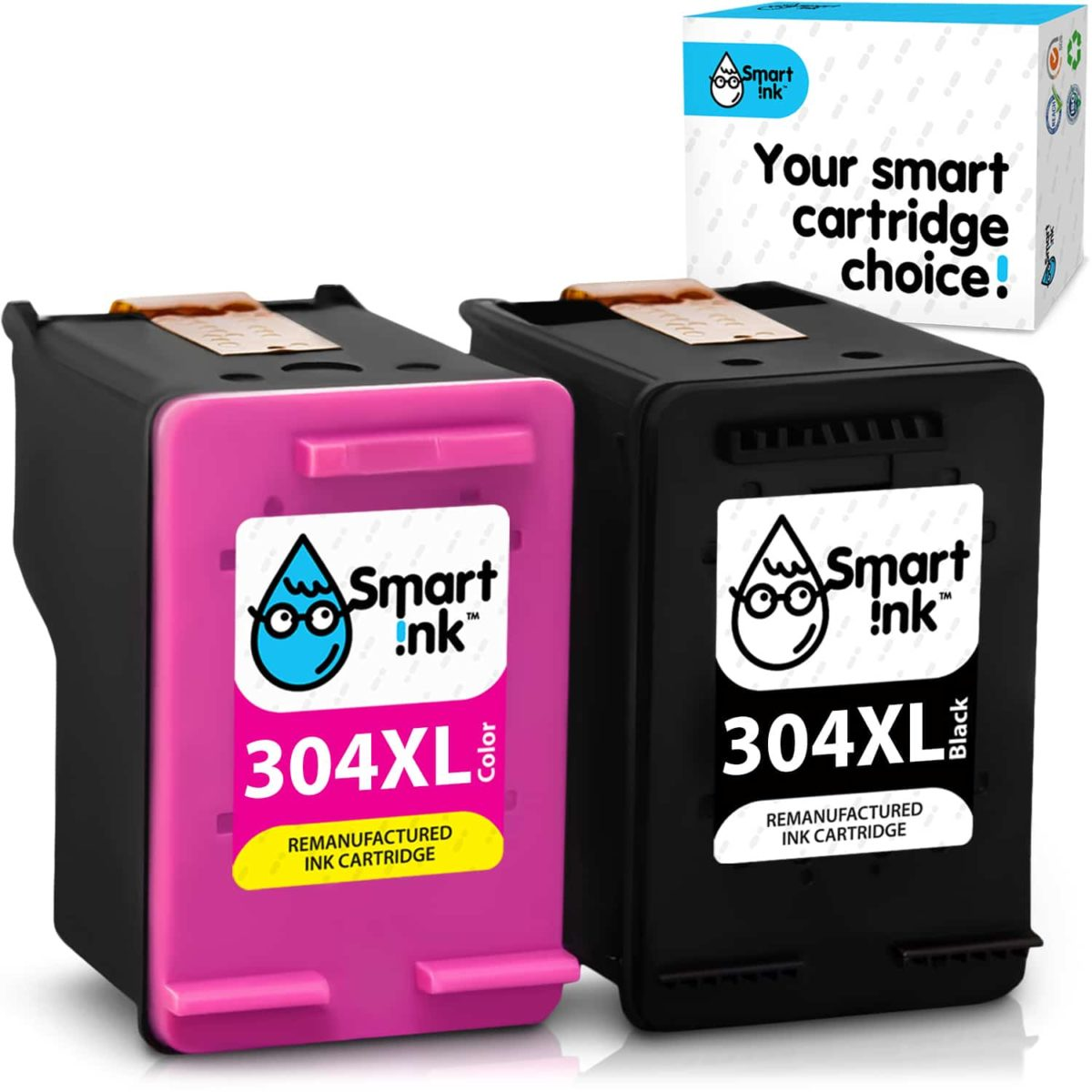 304XL. Smart Ink Cartridge Replacement for HP 304 XL (2 pack), Remanufactured