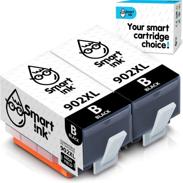 Smart Ink Compatible Ink Cartridge Replacement for HP 902 XL 902XL (Black, 2 Pack)